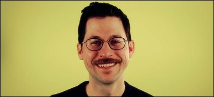 Chris Cain and his moustache
