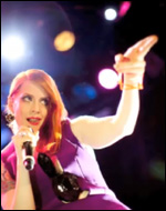 Ana Matronic performs with the Scissor Sisters in New York, April 2010