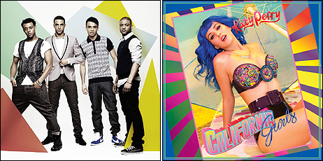 JLS and Katy Perry - together at last