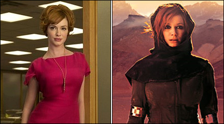 Christina Hendricks - in the 1960s and THE FUTURE!