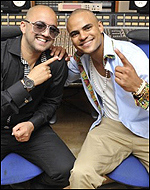 Mohombi is on the right, fact fans